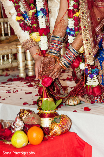Ceremony in St. Petersburg, FL Indian Wedding by Sona Photography