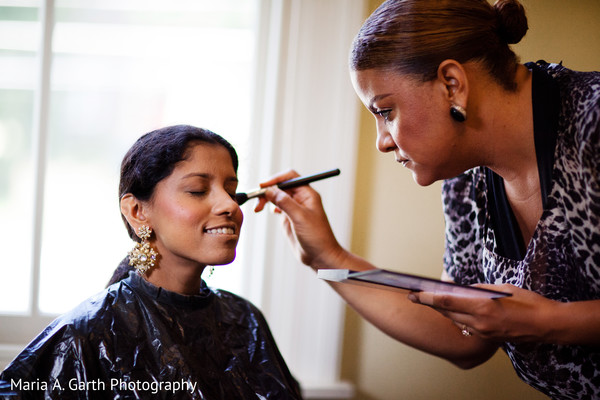 Getting Ready in Voorhees, NJ Indian Wedding by Maria A. Garth Photography