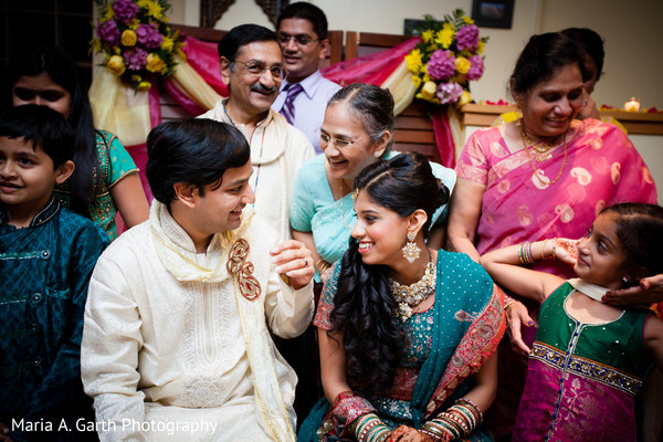 Ceremony in Voorhees, NJ Indian Wedding by Maria A. Garth Photography