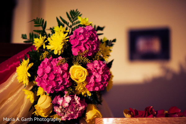 Floral & Decor in Voorhees, NJ Indian Wedding by Maria A. Garth Photography