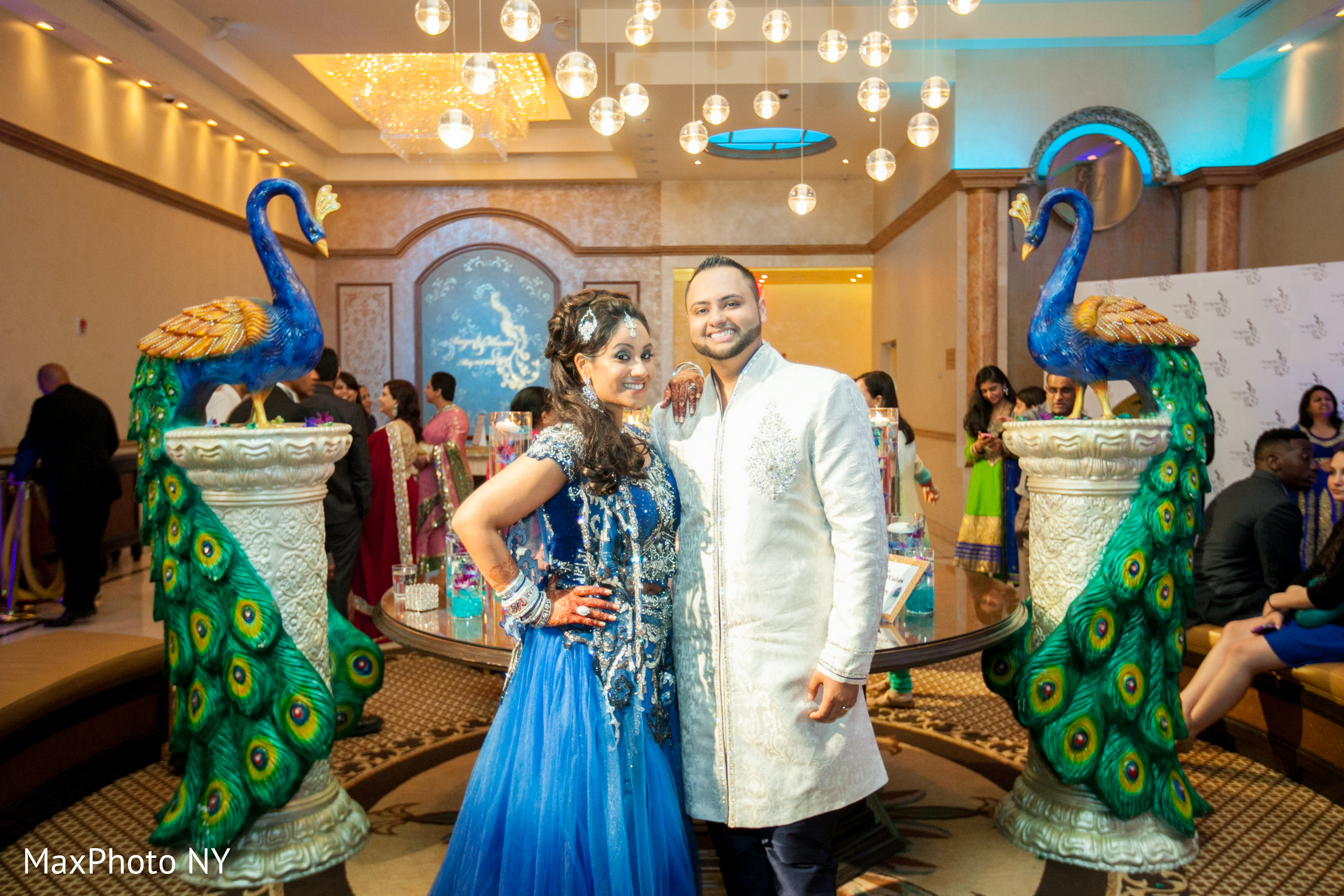 Reception in Woodside NY Indian Wedding by Max NY