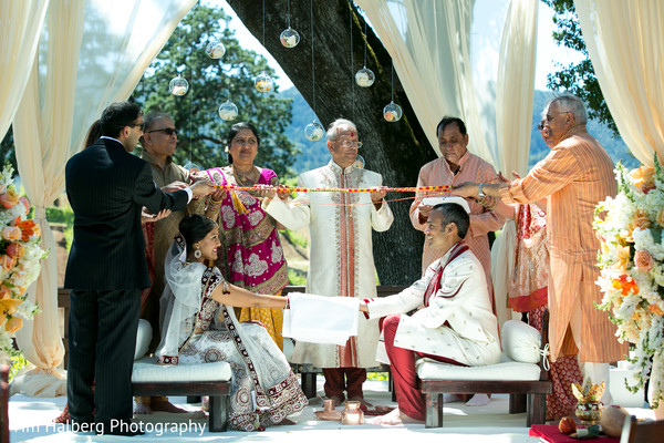 Ceremony in Glen Ellen, CA Indian Wedding by Tim Halberg Photography