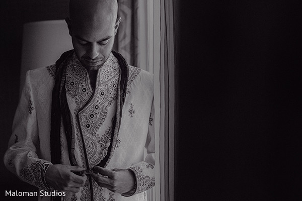 Getting Ready in Mountain Lakes, NJ Indian Wedding by Maloman Studios