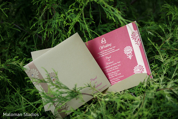 Invitations & Wedding Stationery in Mountain Lakes, NJ Indian Wedding by Maloman Studios