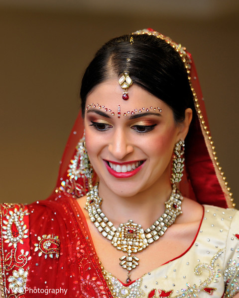 Hair & Makeup in Somerset, NJ Indian Wedding by NYNJ Photography
