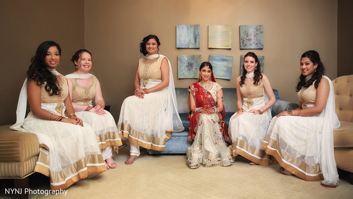 Bridal Party in Somerset, NJ Indian Wedding by NYNJ Photography