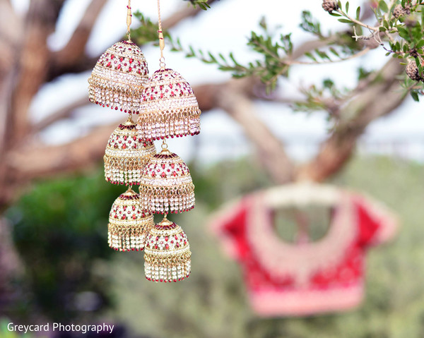 Bridal Jewelry in Dana Point, CA Indian Wedding by Greycard Photography