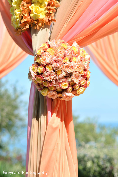 Floral & Decor in Dana Point, CA Indian Wedding by Greycard Photography