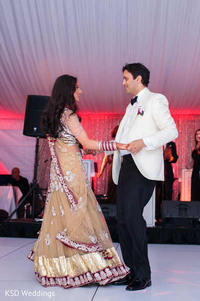 Reception in Port Washington, NY Indian Wedding by KSD Weddings
