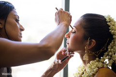 An Indian bride gets ready for her wedding ceremony!