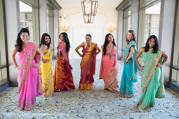Bridal Party in San Jose, CA Indian Wedding by Wedding Documentary + Cinema
