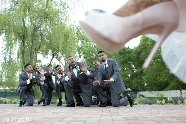 Bridal Party in Woodbury, NY Indian Wedding by MaxPhoto NY