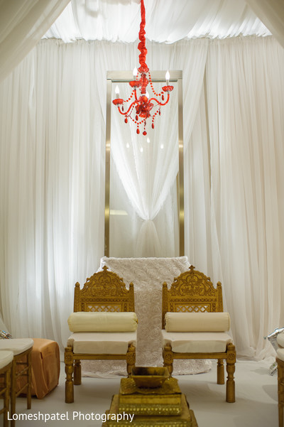 Mandap in Dallas, TX Indian Wedding by Lomeshpatel Photography
