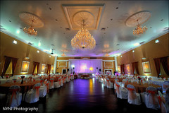 An Indian bride and groom celebrate at their fun-filled reception!