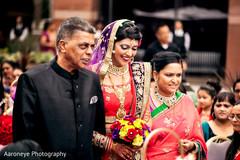 This Indian bride celebrates her wedding ceremony.