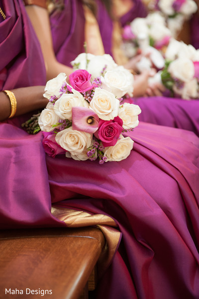 indian bridesmaids,indian wedding bouquet,indian bridal bouquet