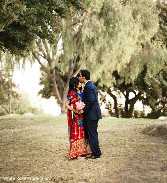 Portraits in Cerritos, CA Pakistani Engagement by White Rose Production