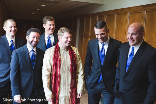 Groom Fashion in Ann Arbor, MI Indian Wedding by Silver Thumb Photography