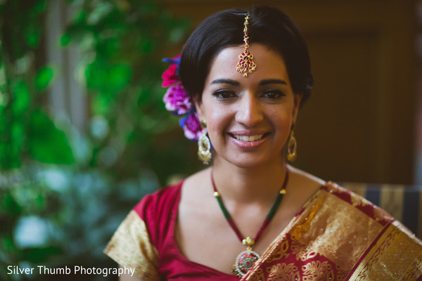 Hair & Makeup in Ann Arbor, MI Indian Wedding by Silver Thumb Photography