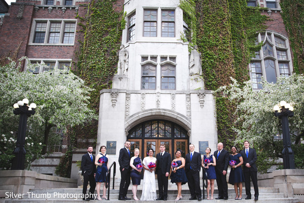 Bridal Party in Ann Arbor, MI Indian Wedding by Silver Thumb Photography