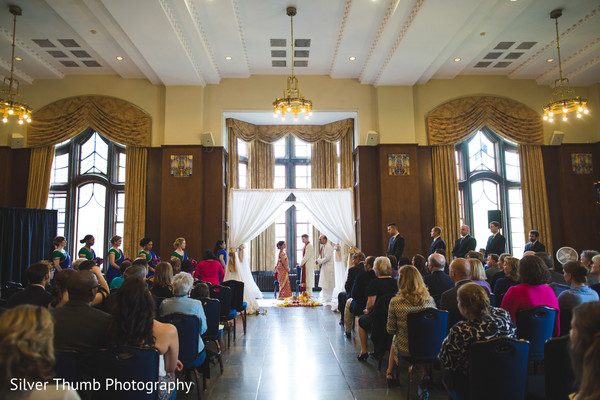 Ceremony in Ann Arbor, MI Indian Wedding by Silver Thumb Photography