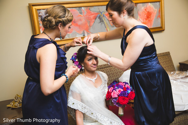Getting Ready in Ann Arbor, MI Indian Wedding by Silver Thumb Photography