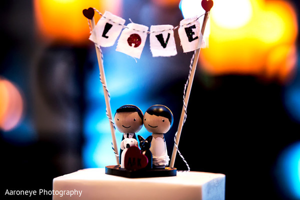Wedding cake topper in La Jolla, CA Indian Wedding by Aaroneye Photography