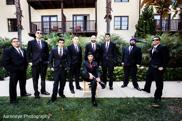 Wedding party portraits in La Jolla, CA Indian Wedding by Aaroneye Photography
