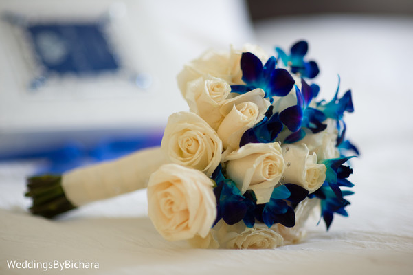 Bridal Bouquet in Dallas, TX Indian Wedding by William Bichara Photography