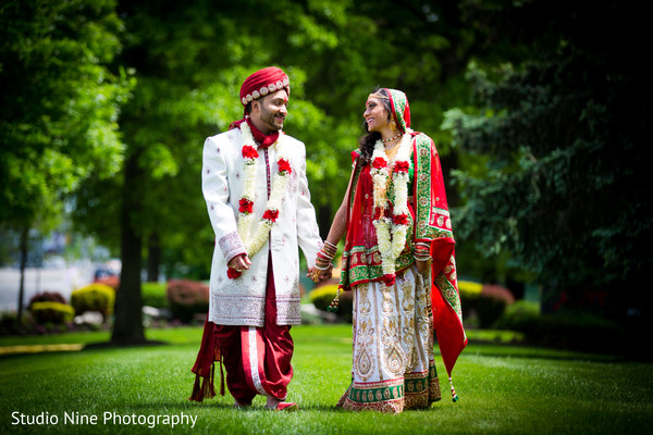 Portraits in Hanover, NJ Indian Wedding by Studio Nine Photography