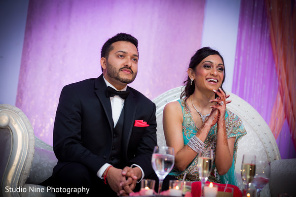 Reception in Hanover, NJ Indian Wedding by Studio Nine Photography