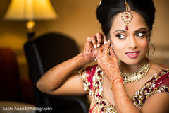 A darling Indian bride gets ready for her big day!