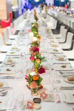 Table setting at the reception.