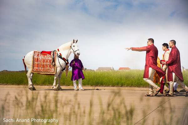 Baraat in Bloomington, IL Indian Wedding by Sachi Anand Photography