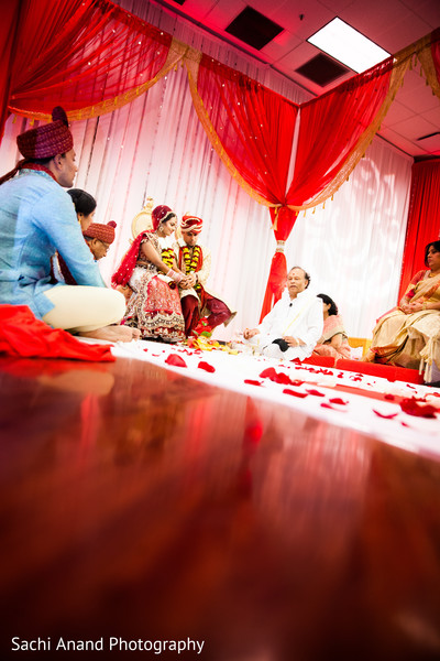 Ceremony in Bloomington, IL Indian Wedding by Sachi Anand Photography