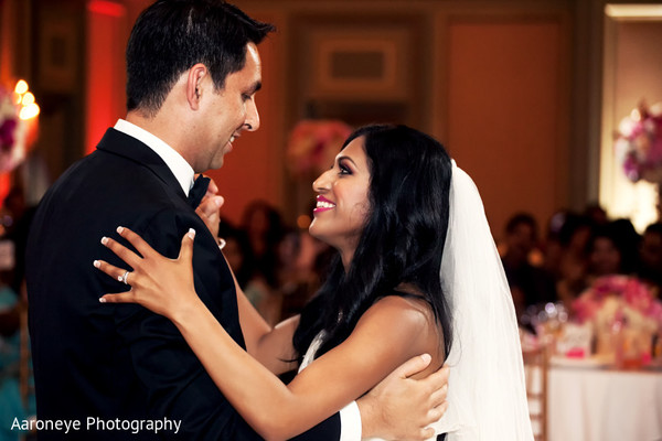 Reception in Pasadena, CA Indian Wedding by Aaroneye Photography