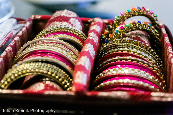 Jewelry details. in Indian Bridal Shower Inspiration Shoot by Julian Ribinik Photography