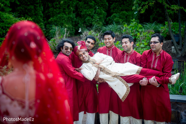 Bridal Party in Stamford, Connecticut Indian Wedding by PhotosMadeEz