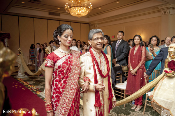 Ceremony in Pearl River, NY Indian Wedding by BnB Photography