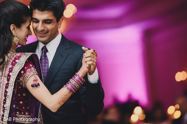 Reception in Pearl River, NY Indian Wedding by BnB Photography