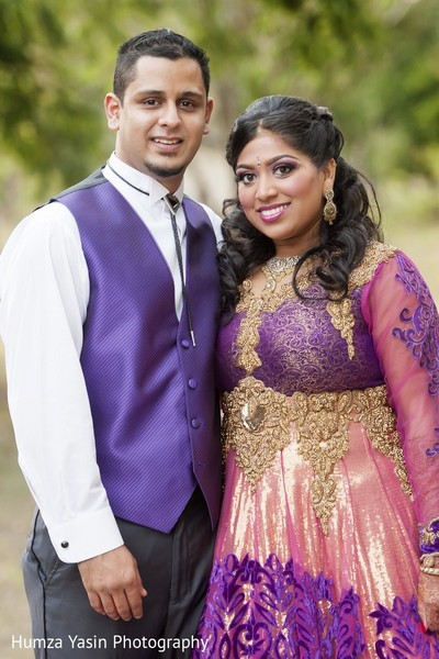 Reception Portrait in Boerne, TX Indian Wedding by Humza Yasin Photography