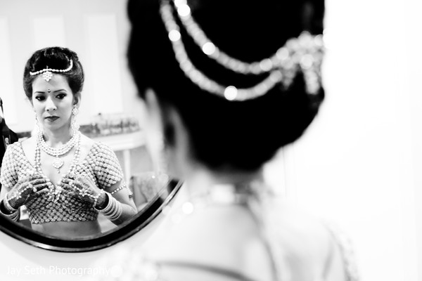 Getting ready in Woodland Park, NJ Indian Wedding by Jay Seth Photography