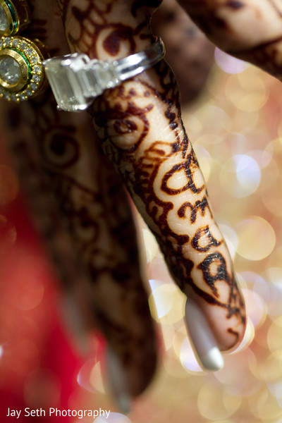 Mehndi detail in Woodland Park, NJ Indian Wedding by Jay Seth Photography
