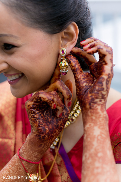 Getting Ready in Dana Point, CA Indian Wedding by RANDERYimagery