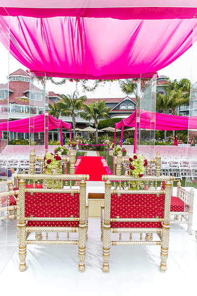 Mandap in Dana Point, CA Indian Wedding by RANDERYimagery