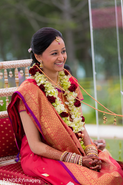 Ceremony in Dana Point, CA Indian Wedding by RANDERYimagery
