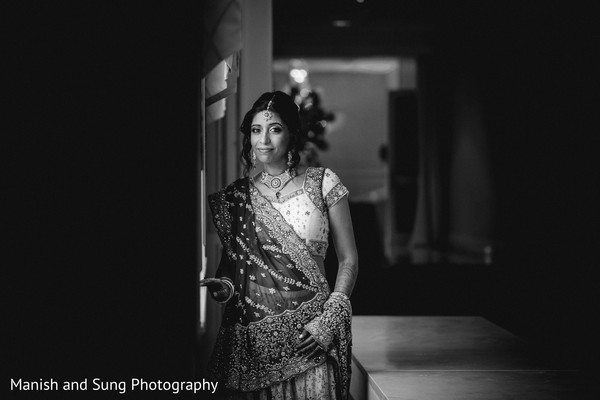 Bridal portraits in West Orange, NJ Indian Wedding by Manish and Sung Photography