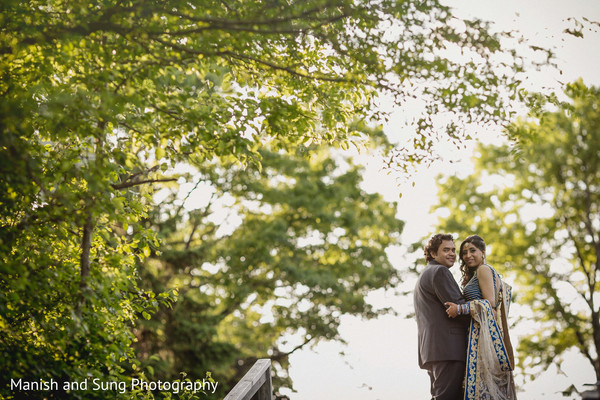 Reception portraits in West Orange, NJ Indian Wedding by Manish and Sung Photography