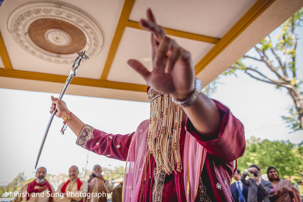 Baraat ceremony in West Orange, NJ Indian Wedding by Manish and Sung Photography