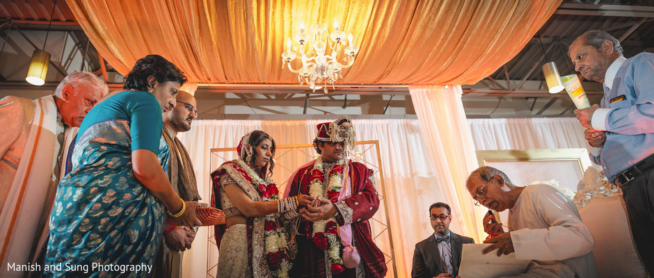 Wedding ceremony in West Orange, NJ Indian Wedding by Manish and Sung Photography